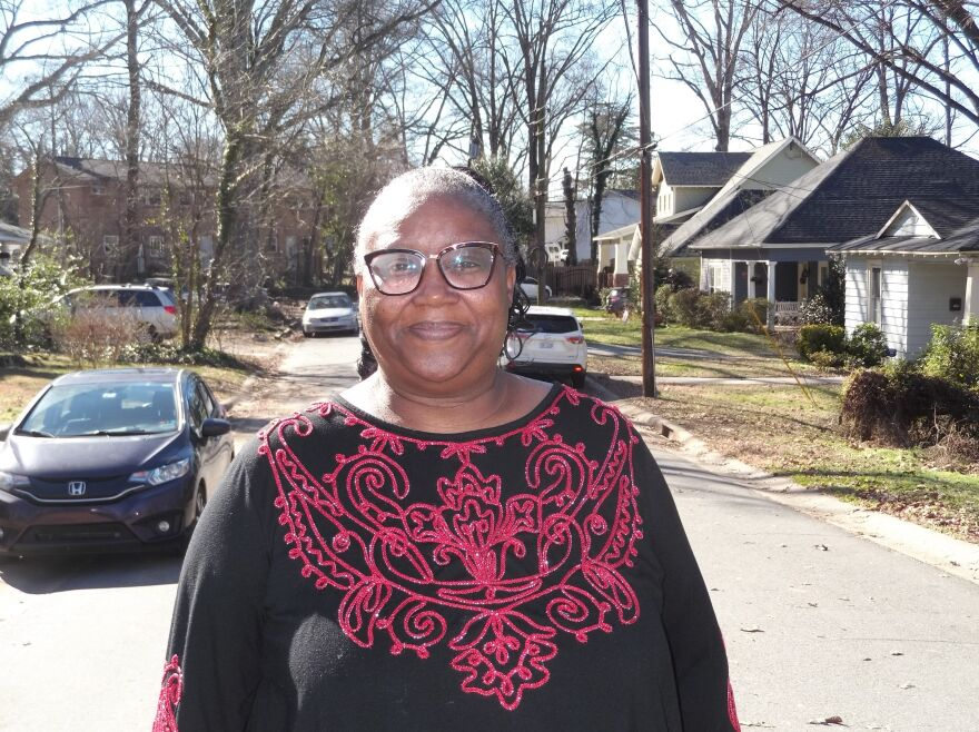 West End leader J'Tanya Adams lives on Lima Street, off Rozelles Ferry Road.