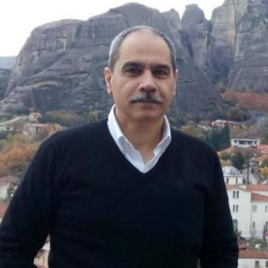 Mohamed Basheer, administrative manager of Egyptian Initiative for Personal Rights, seen in a photo on the civil rights organization's website. Basheer was arrested following a meeting with European ambassadors.