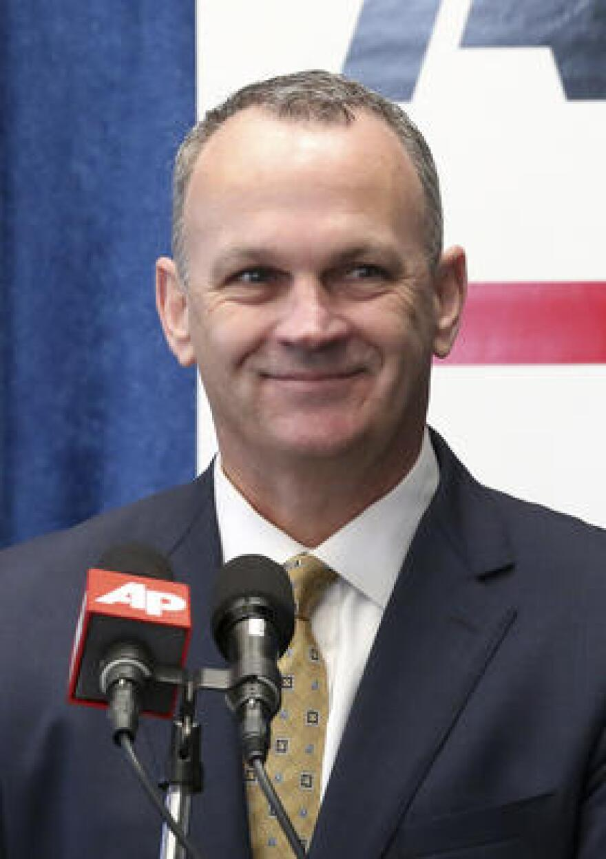 Florida House Speaker Richard Corcoran, R-Land O'Lakes, smiles as he speaks about his objectives for the legislative session during a pre-legislative news conference, Tuesday, Jan. 31, 2017, in Tallahassee.