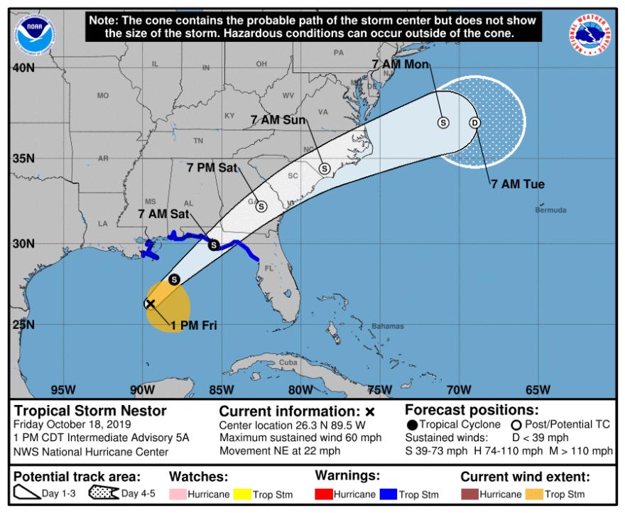 Tropical Storm Nestor
