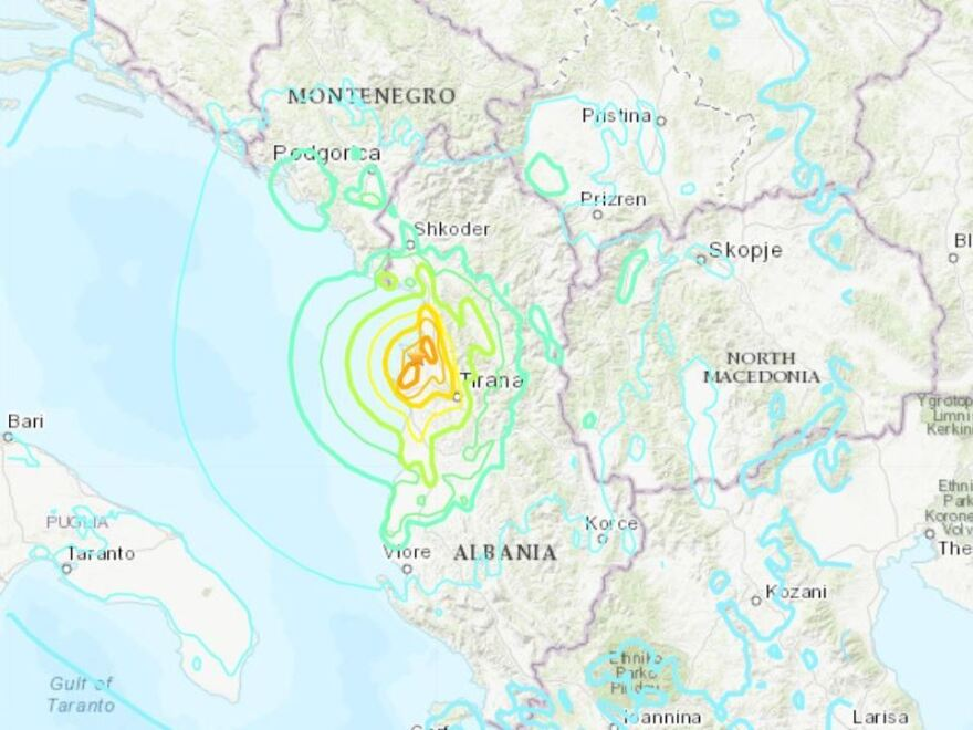 A 6.4 magnitude earthquake hit Albania just before 4 a.m. local time Tuesday, damaging buildings and triggering aftershocks.
