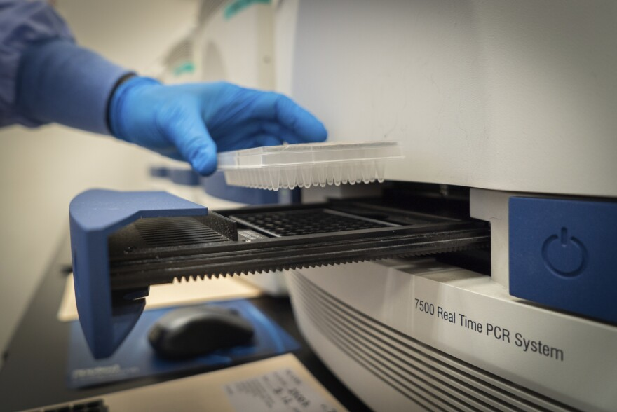 Coronavirus test lab