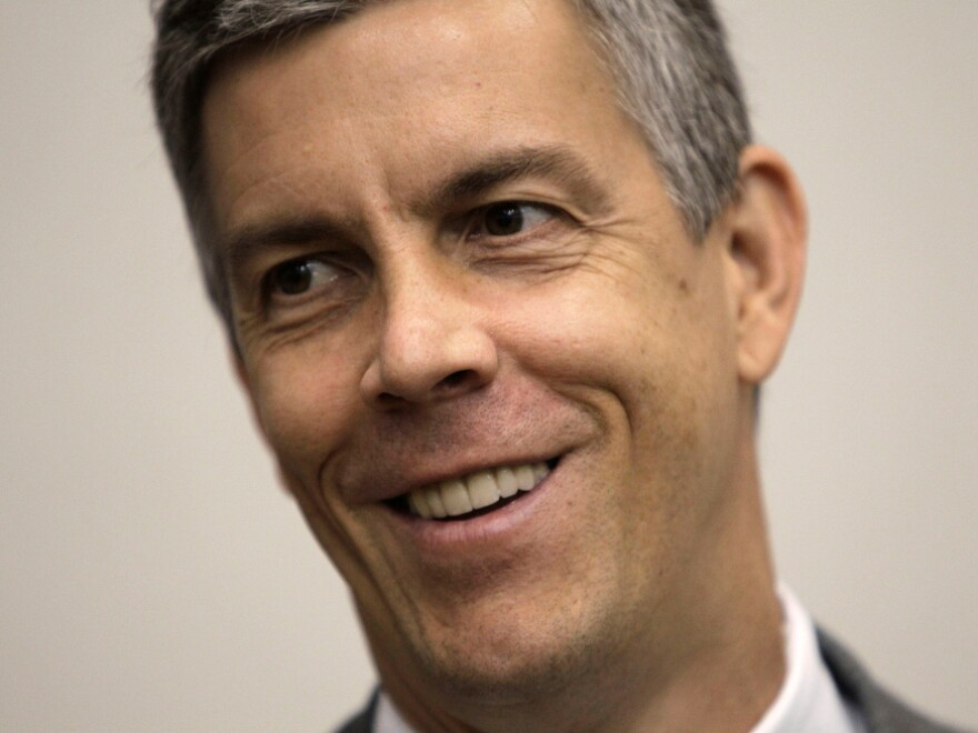 <p>Education Secretary Arne Duncan visited Oregon earlier this month, and he heard from an Oregon City teacher who complained about the rules of a performance-based pay bonus grant.</p>