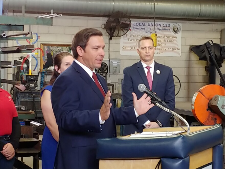 FL Governor Ron DeSantis announced portions of his education plan in Tampa Wednesday.