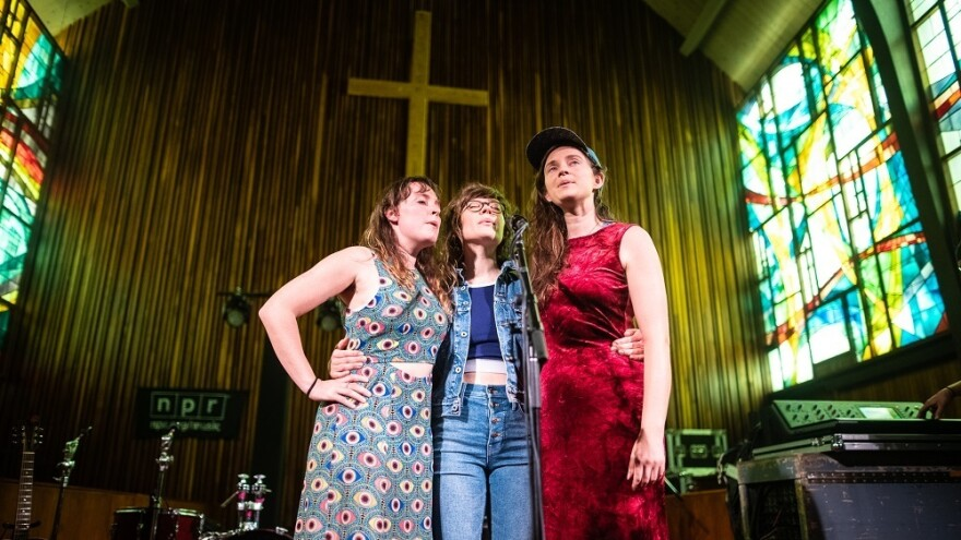 Mountain Man performs at the Tiny Desk Family Hour at Central Presbyterian Church in Austin, TX during the 2019 SXSW music festival.