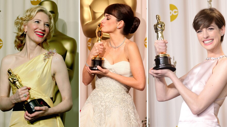 Curse? What curse? Above, best supporting actress winners Cate Blanchett in 2005, Penélope Cruz in 2009 and Anne Hathaway in 2013.