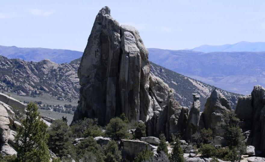 City of Rocks is a popular climbing destination in Idaho.