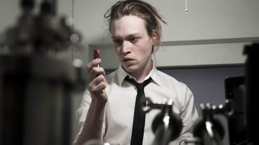 Caleb Landry Jones stars in Brandon Cronenberg's thriller <em>Antiviral, </em>which takes place in a dystopian future in which people inject themselves with viruses taken from celebrities.
