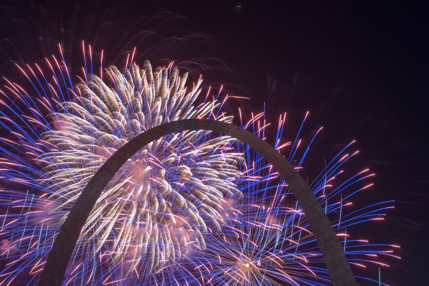 Fireworks and Fair St. Louis returned to the Gateway Arch Wednesday, July 4, 2018, for Independence Day celebrations in St. Louis on July 4, 2018.