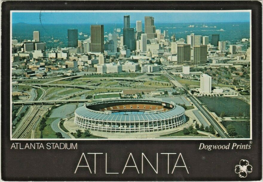 Atlanta Stadium postcard