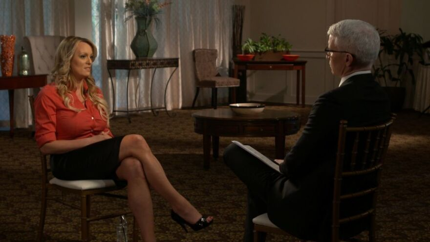 Stormy Daniels spoke with Anderson Cooper on CBS's <em>60 Minutes</em> in an interview that aired on Sunday night.