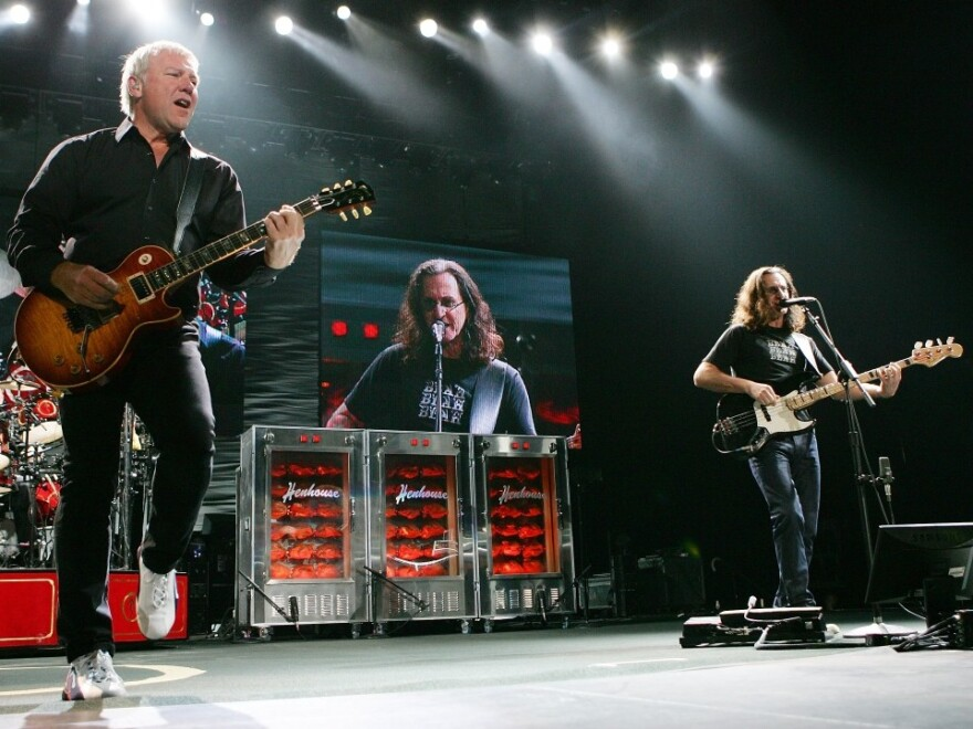 Rush guitarist Alex Lifeson (left) and singer/bassist Geddy Lee.
