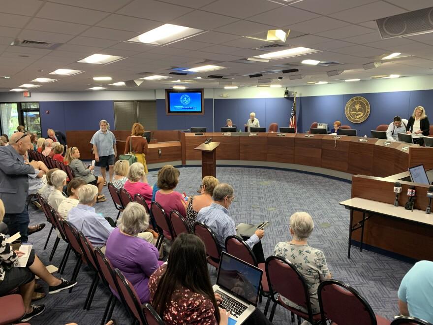 school board meeting in Sarasota