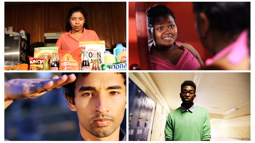 Young poets Monica Mendoza (clockwise from top left), Erica Sheppard McMath, Obasi Davis and Gabriel Cortez have written about how Type 2 diabetes affects their families and communities.