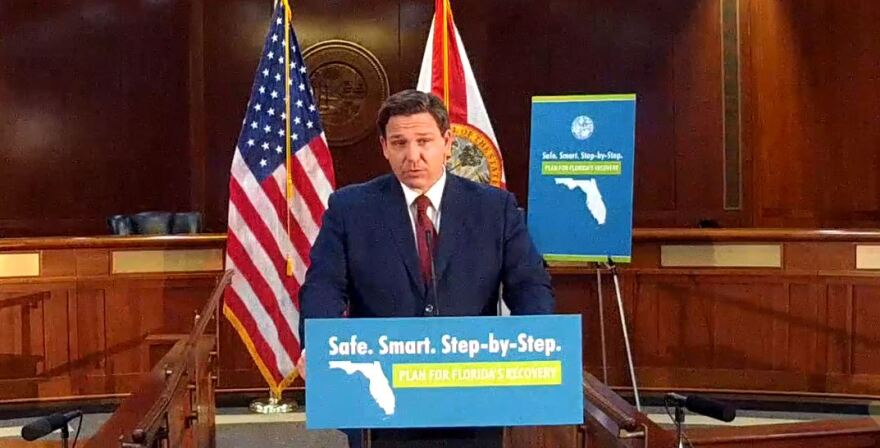 Health department data manager Rebekah Jones said she was forced to resign for resisting requests to delete coronavirus data. The state defends the decision, accusing her of insubordination. Gov. Ron DeSantis (pictured) called it a non-issue.