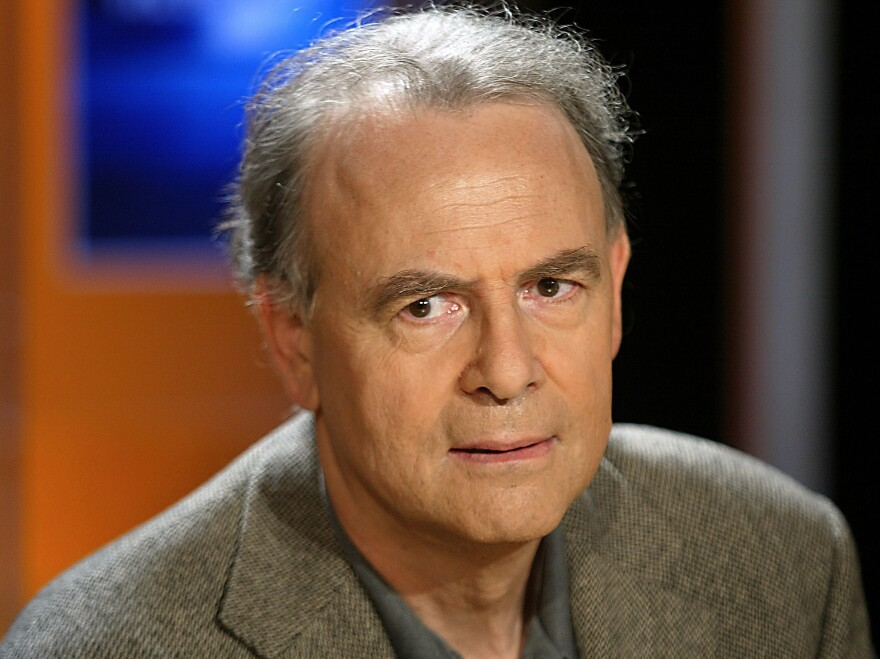 French writer Patrick Modiano's most recent novel is <em>Pour que tu ne te perdes pas dans le quartier.</em> Modiano is pictured in 2003.