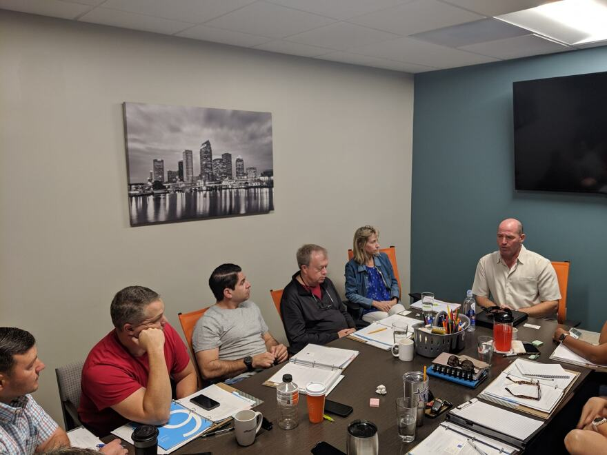 Veteran entrepreneurs take part in a 2019 class at Action Zone in Tampa. The non-profit organization moved online in 2020 to continue its classes in entrepreneurship for veterans.