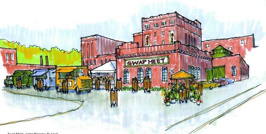 An artists rendering of the St. Louis Swap Meet