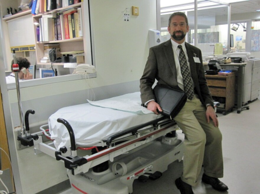 """The inside of the ER is kind of like Las Vegas,"" with a ""24/7, 365 flow of  activity,"" says Dr. Gary Bubly, an emergency physician at The Miriam Hospital in Providence, R.I."