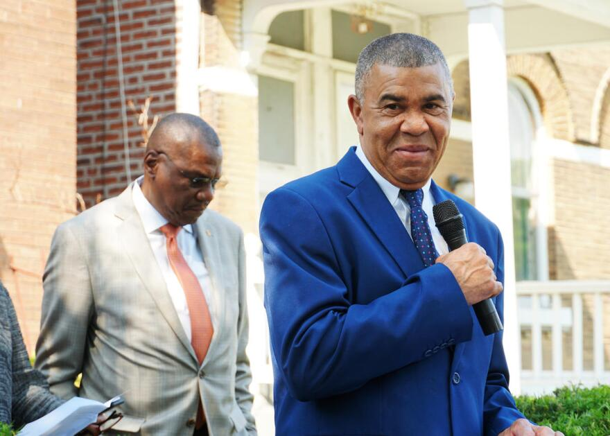 U.S. Rep. Lacy Clay speaks at the Shelley House dedication ceremony in May 2019. Clay has been in elected office since 1983, making him one of the longest-serving elected officials in Missouri.