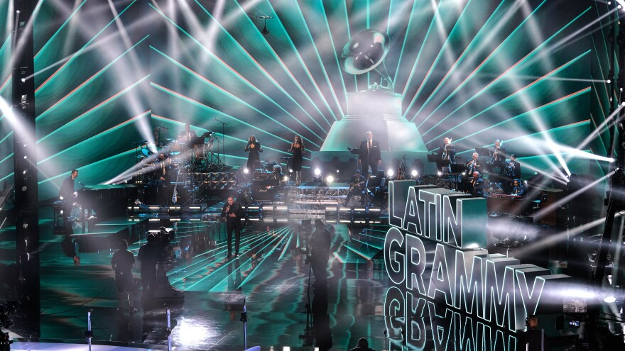 Víctor Manuelle, performing onstage during the 21st Annual Latin Grammy Awards at American Airlines Arena on Nov. 19, 2020 in Miami.