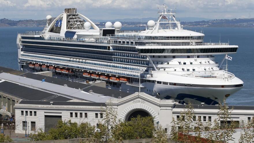 The coronavirus-stricken Grand Princess cruise ship docked in San Francisco, Calif., on April 7, 2020.