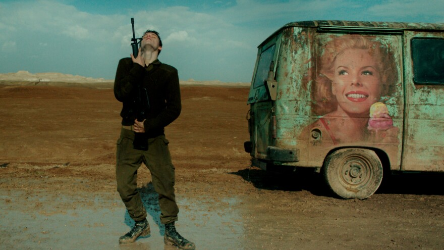 Yonatan Shiray plays a young Israeli soldier in <em>Foxtrot</em>.