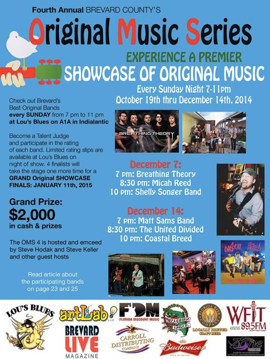 Brevard Live Original Music Series at Lou's Blues