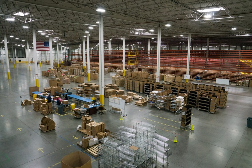The warehouse is a new fulfillment center run by Radial, handling some of the biggest brands in cosmetics.
