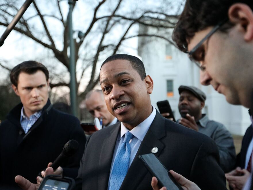 Virginia Lt. Gov. Justin Fairfax speaks to the media Monday in Richmond, Va., about the sexual assault allegation from 2004.