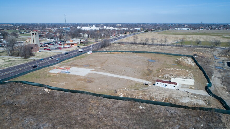 Little activity was visible at the intended Northside Urgent Care construction site on March 26, 2019.