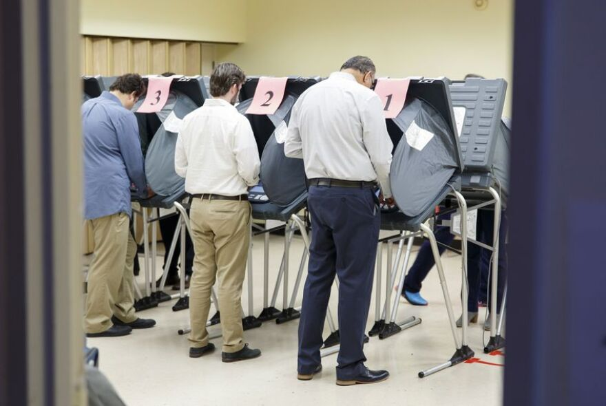 Voters cast their ballots at the Metropolitan Multi-Service Center in Houston on Nov. 5, 2019.