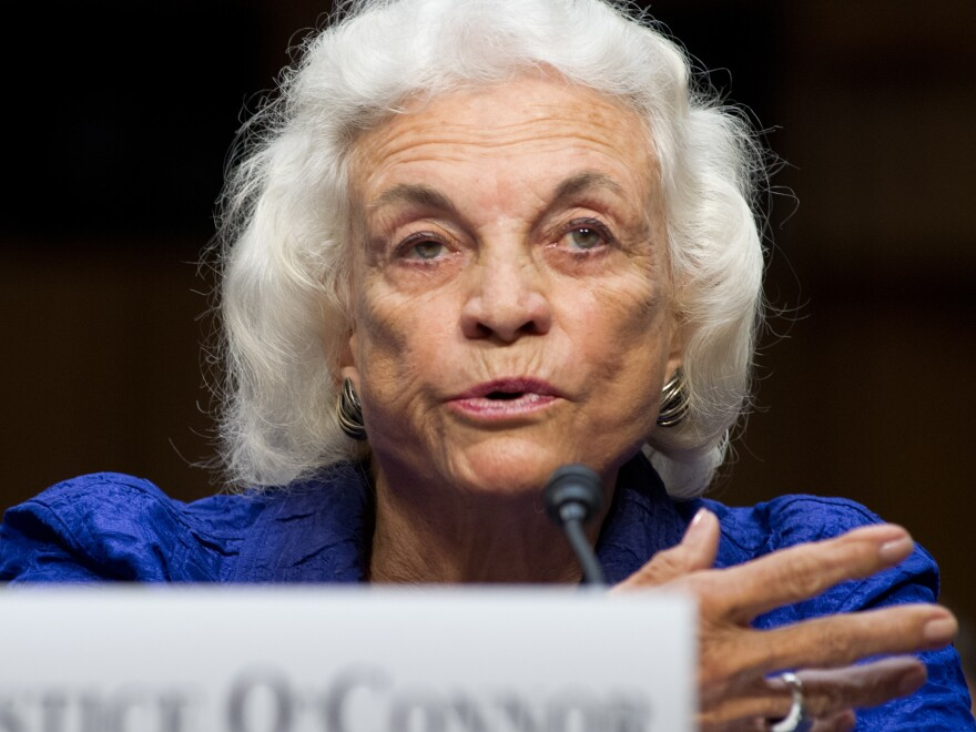 "Former Supreme Court Justice Sandra Day O'Connor says she has been diagnosed with ""dementia, probably Alzheimer's disease."" She's seen here in 2012."