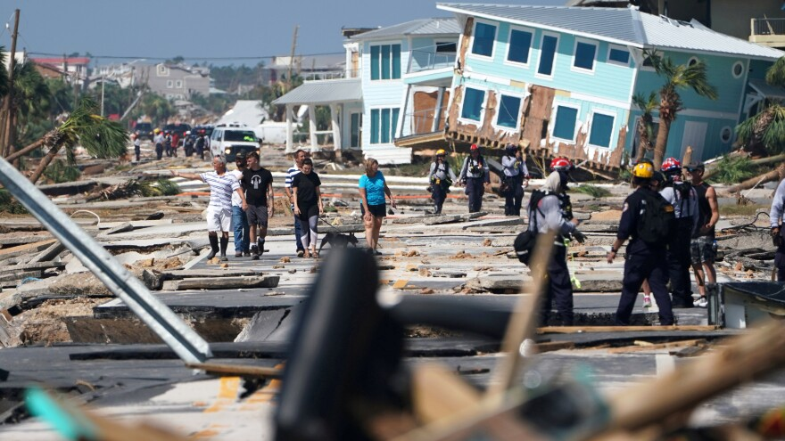 """""""This is a war zone,"""" one Mexico Beach resident said of the damage left in the aftermath of Hurricane Michael."""