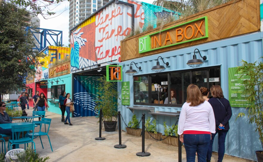 Food And Beer Garden Sparkman Wharf Opens In Channelside Wusf Public Media