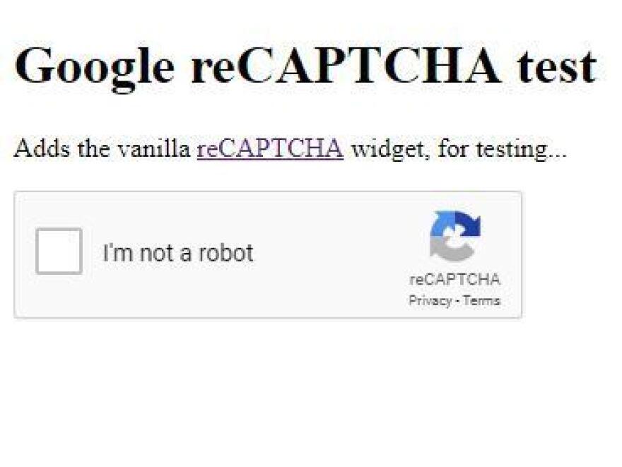 I am not not not a robot.