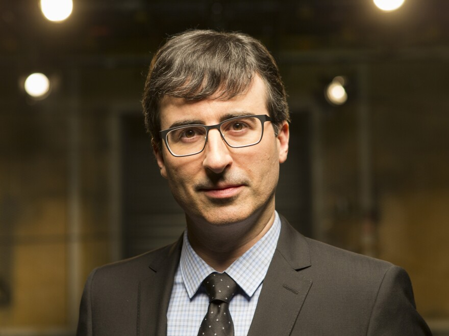"""John Oliver's new political satire <em>Last Week Tonight</em> airs on HBO. Oliver says the network gives him an almost """"confusing amount of freedom."""""""