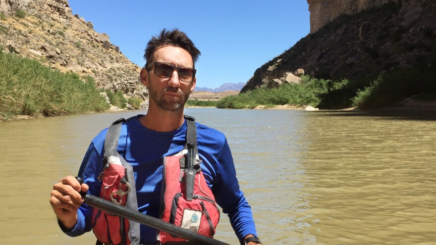 Charlie Angell, a river outfitter, offers to take President Trump and his cabinet on a canoe trip through Santa Elena Canyon to show him the folly of a border wall in the Big Bend region.