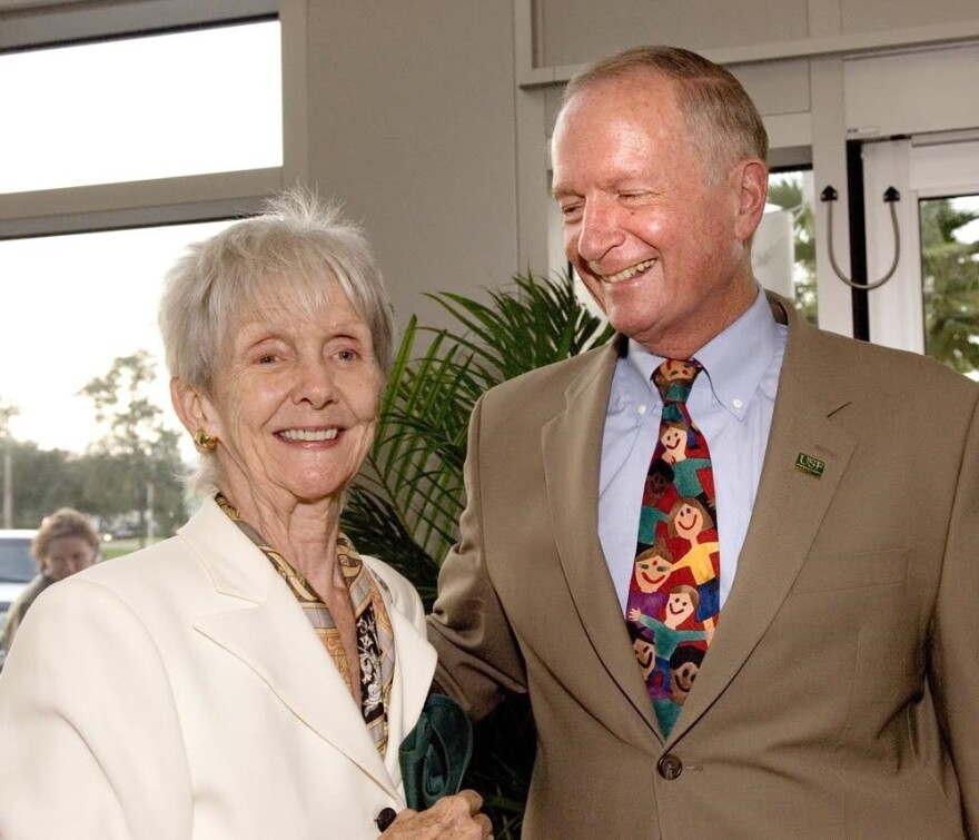 The late Rhea Chiles and Dr. Charlie Mahan