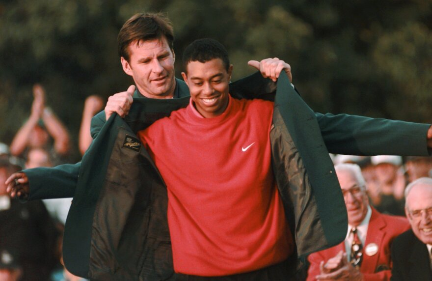 Woods won his first Masters in 1997.