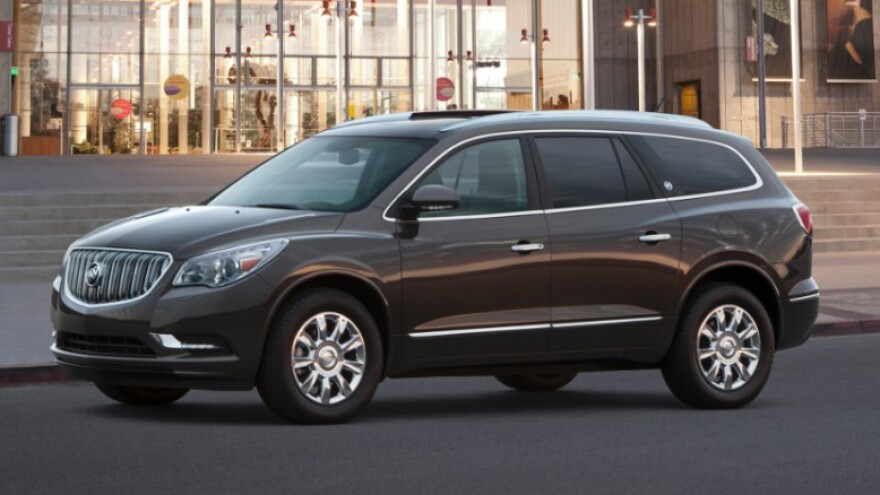 A new GM recall over defective fuel gauges affects the 2014 Buick Enclave (seen here), along with the Chevrolet Traverse and GMC Acadia.