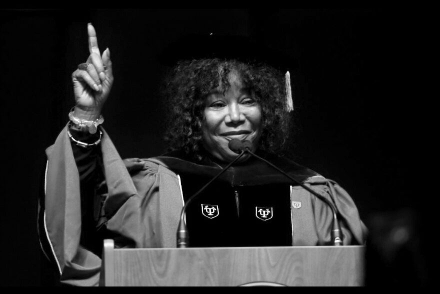 Ruby Bridges delivers commencement address at Rhode Island College in 2019. (Courtesy)