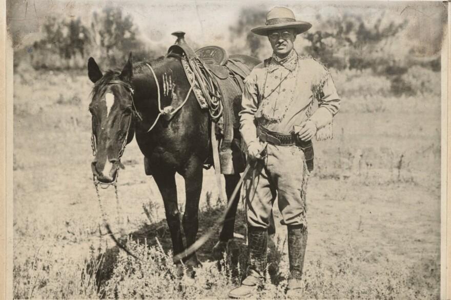 Theodore Roosevelt on the roundup. (Photo Courtesy Houghton Mifflin Harcourt)