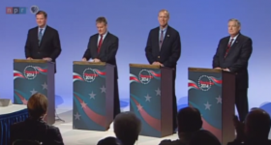 The four candidates for governor seem to be downplaying social issues in this year's Republican primary.