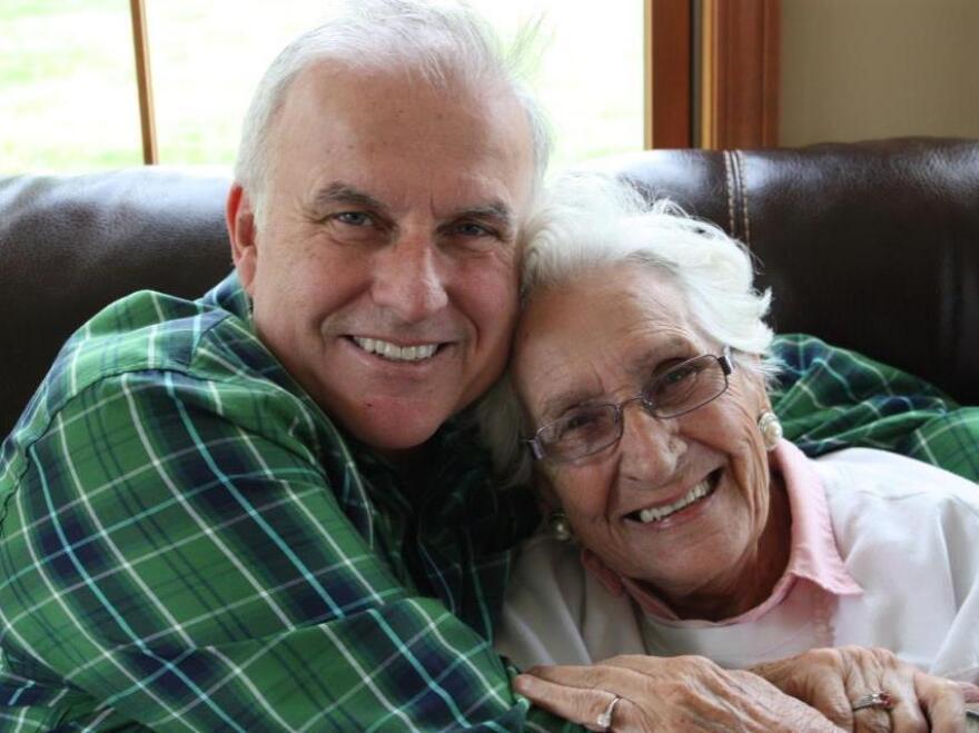 Juanita Smith with her son, John.