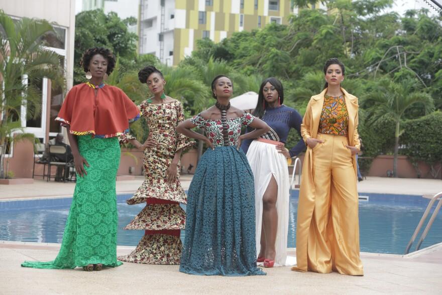 The characters of <em>An African City </em>(from left): Zainab, Ngozi, Nana Yaa, Sade and Makena.
