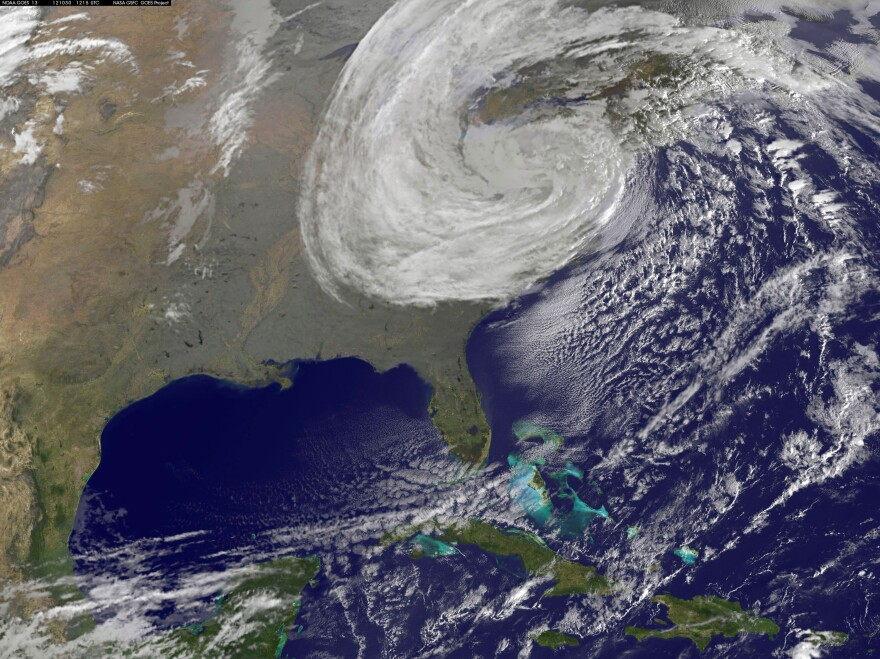 A satellite image provided by NASA shows Hurricane Sandy on Oct. 30. Forecasters underestimated the intensity of the Atlantic hurricane season last year.