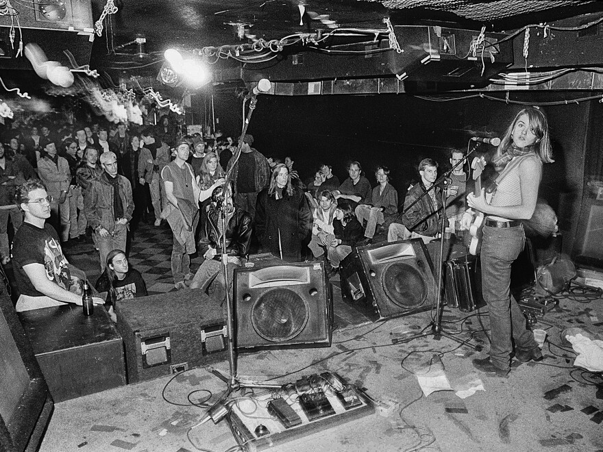 Liz Phair performs at the Lounge Ax in Chicago in 1993.