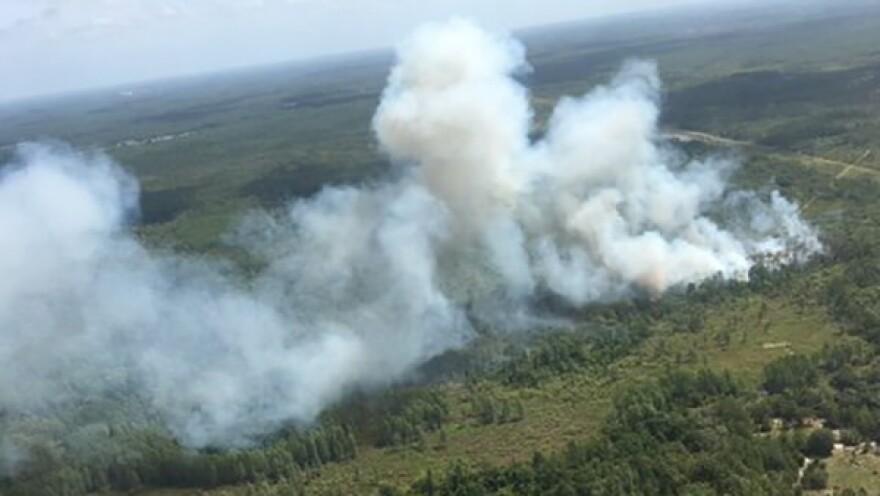 Smoke from Pasco brush fire