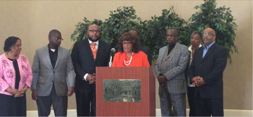 U.S. Rep. Corrine Brown at a news conference Friday in Orlando.